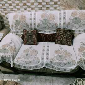 SOFA 2 SEATER 2 SET WITH COVERS