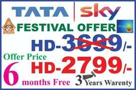 ₹ **2799**₹HD:-2799 TATA SKY DTH 6 months free