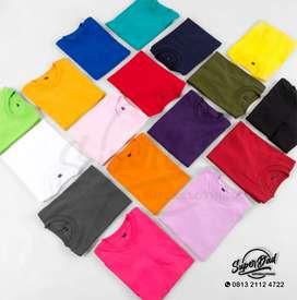 Kaos Polos Anak & Dewasa