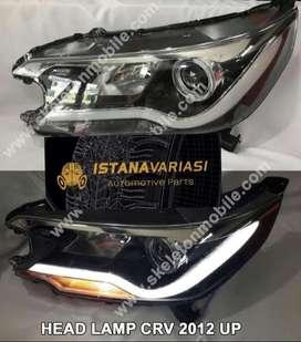 READY Headlamp lampu depan Honda All new CRV LED BAR LEXUS STYLE