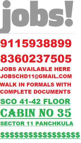B.TECH / DIPLOMA MECHANICAL ENG.REQUIRED IN TRICITY 91159331*44
