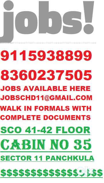 B.TECH / DIPLOMA MECHANICAL ENG.REQUIRED IN TRICITY 91159331*44 0