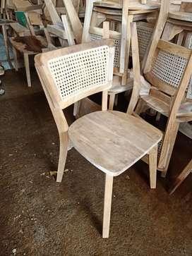 Kursi cafe rotan, kursi makan