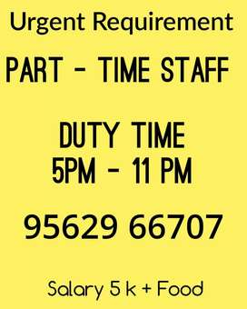 Part time job in Restaurant in kalamassery