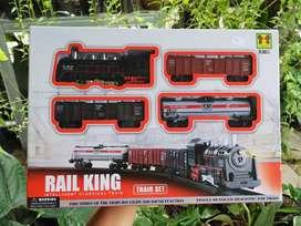 Mainan Anak Kereta Api Rail King Locomotive Intellegent Classic Train