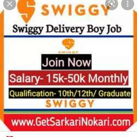 @HIRING FOR SWIGGY FOOD DELIVERY BOYS AT TOLICHOWKI@
