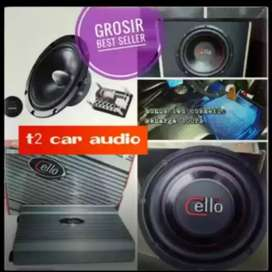 Paket audio CELLO DENMARK full komplit bonus led cosmetik gan mumer