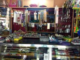 Fancy and Bangles store with materials is up for sale