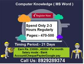 Data Entry Work From Home Online/offline