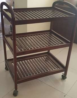 Solid wood Tea trolley. Almost new.