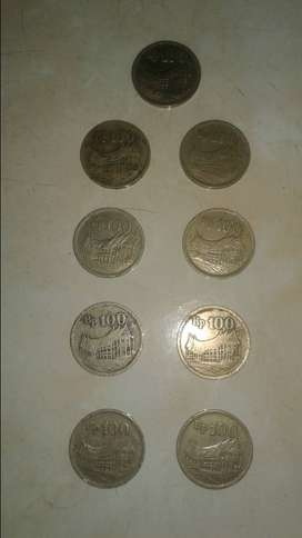 Uang koin kuno rumah gadang tebal dan gambar wayang tipis th 1973
