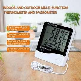 HTC-2 Hygrometer Clock Termometer Kelembaban Higrometer