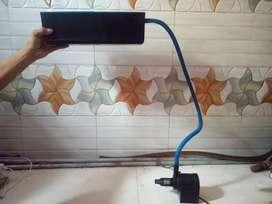 Top filter & heater