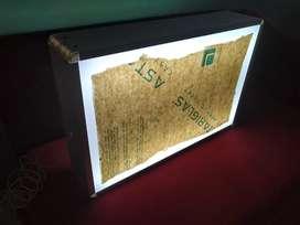Neonbox ukuran 60x40cm