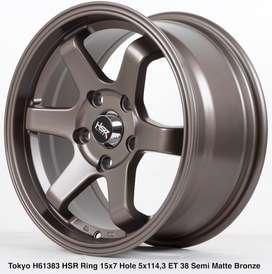 diskon 10% TOKYO H61383 HSR R15X7 H5X114,3 ET38 SMBRZ