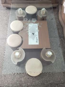 GOOD CONDITION GLASS TABLE
