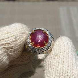 Natural Ruby Star No Heat 3.74 crt