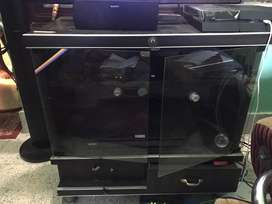 Tv and Associated accessories table