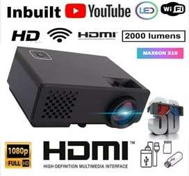 LOW PRICE BEST X10 WIFI 1080p HD MIRACAST SMART LED PROJECTOR HOME AV