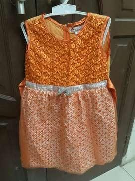 Preloved anak dress kids gaun baju anak pesta batik brukat