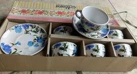 Baru cangkir set keramik isi 6 cangkir 6 lepek