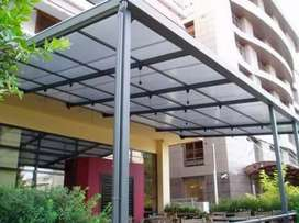 kanopi atap bening transfaran polycarbonate,solartuuf,solarflatt,dll