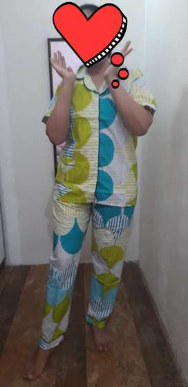 Baju tidur piyama bahan katun rayon premium bahan tebal halus adem