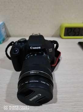 kamera Canon 750D + lensa 18:55