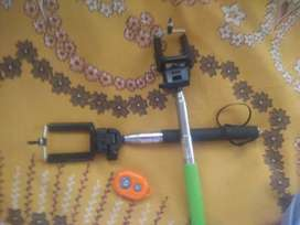 2 selfie stick with button automatic stick