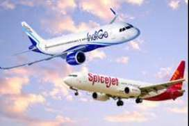 New hiring for ground staff .at nearest airport.  Indigo Airline Urgen