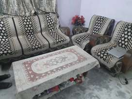 Sofa in good condition with table