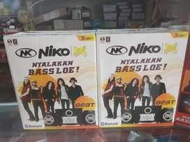 Speaker NIKO Bluetooth Beat nyalakan Bass Lo new Quality