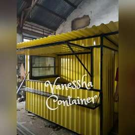 BOOTH SEMI CONTAINER / CONTAINER CAFE BAR / CONTAINER COFFEE SHOP