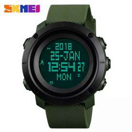 SKMEI Jam Tangan Digital Pria Pedometer Compass - 1430