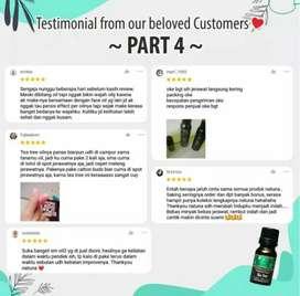 Natuna TeaTree Pure Essential Faceoil, penghilang bekas jerawat akut