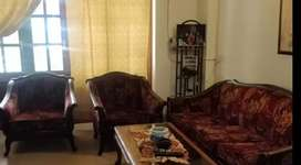 Custom Made Teak Wood Sofa Set - 3 seater plus 2 single seaters