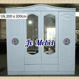 JX MEBEL Lemari Pakaian Import 4 Pintu Jumbo