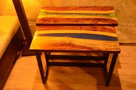 Epoxy resin river coffee table