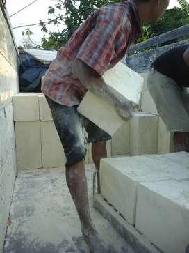 Bahan bangunan batupondasi kumbong kombo bataringan batubelah hebel