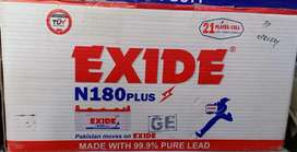 New Box Packed Exide N 180 for UPS, Inverters and Solar.