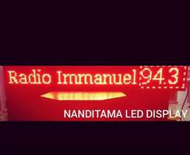 running text led displayy
