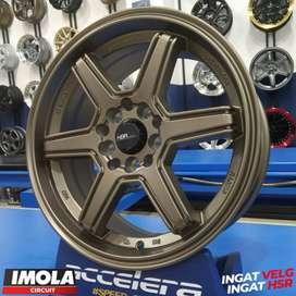 Pelek Mobil Ring 16 Mobilio Yaris R16x7 Pcd 5x100 & 5x114,3 HSR Minas