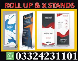 x stands Roll up stands Maker lahore