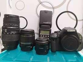 Kamera Canon 600D paket lengkap
