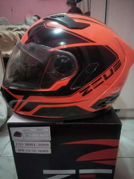 Zeus 813 orange dobel visor