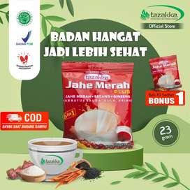 Tazakka Jahe Merah Serbuk Minuman Plus Creamer Sachet Renceng Wedang U