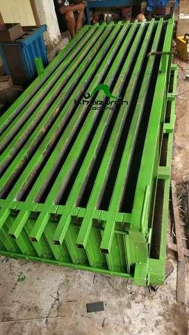 Sedia cetakan pagar beton siap antar