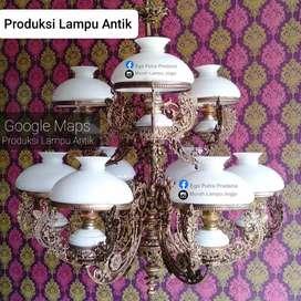 Lampu Gantung Antik Klasik betawi Hias Joglo Gebyok Cafe Hotel