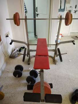 Home gym exercise Kit with bench 50 kg