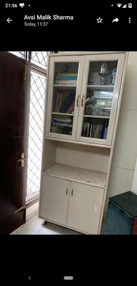 Book rack cum storage cabinet